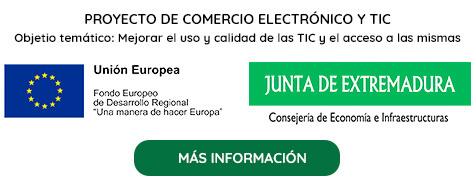 Proyecto Cofinanciado por la Unión Europea y la Consejería de Economía e Infraestructuras de la Junta de Extremadura